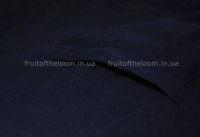 Глубоко тёмно-синяя  мужская лёгкая кофта на замке