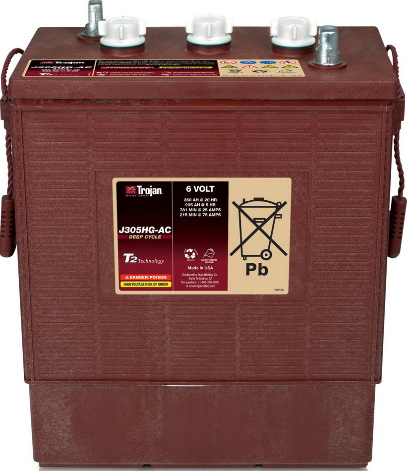 Аккумуляторная батарея TROJAN J305G-AC, 6 Вольт, 315 (258) Ач