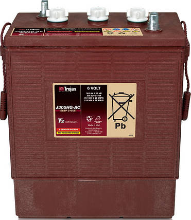 Аккумуляторная батарея TROJAN J305G-AC, 6 Вольт, 315 (258) Ач, фото 2