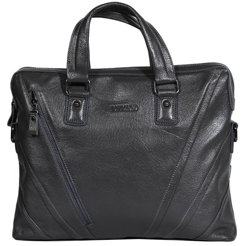 Мужская кожаная сумка для ноутбука серая Tofionno TF005115-831