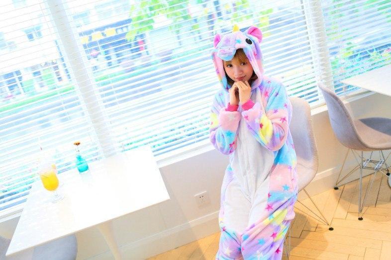 Пижама-кигуруми единорог разноцветнаяя в звезды - Stylemall Торговый Центр  в Киеве d0e04180b7e48