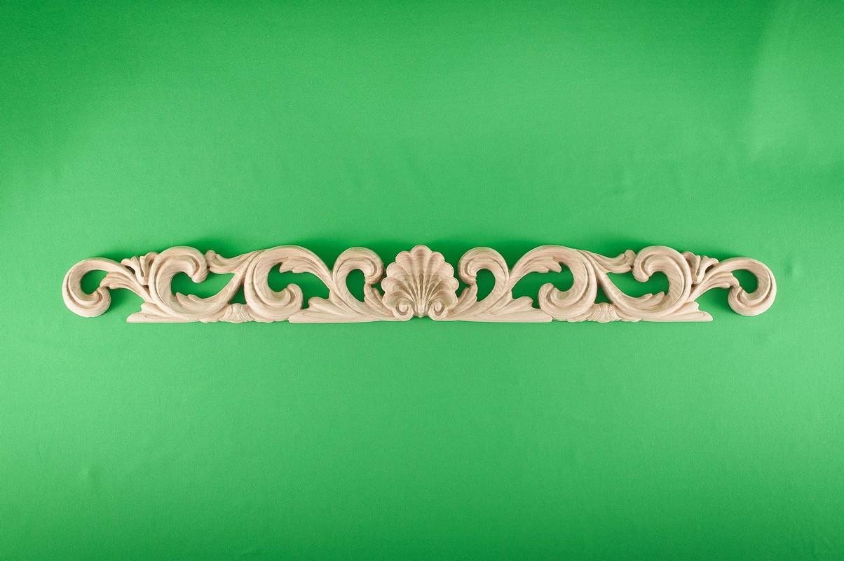 Код ДГ7.Деревянный резной декор для мебели. Декор горизонтальный