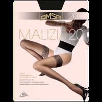 Тонкие прозрачные чулки на силиконе 20 ден OMSA  Malizia 20