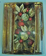 Новогодний подсвечник с свечами 44-8016