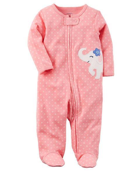 Человечки Картерс для новорожденных девочек 3-6-9 мес. Слоненок Carters (США)