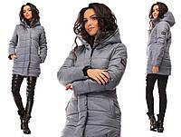 Куртка женская зимняя с капюшоном на синтепоне