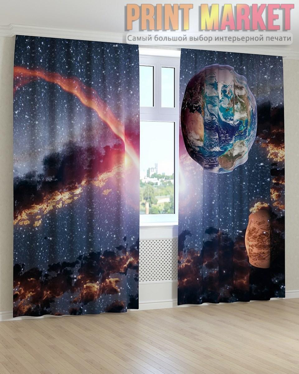 Фото шторы планеты в космосе
