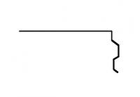 Торцевая планка Акваизол ПТ-1 (коричневая), фото 1