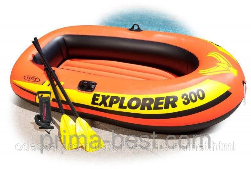 Надувная лодка Explorer - 300 Set Intex 58332 - Udacha  в Одессе