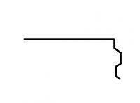 Торцевая планка Акваизол ПТ-1 (красная)