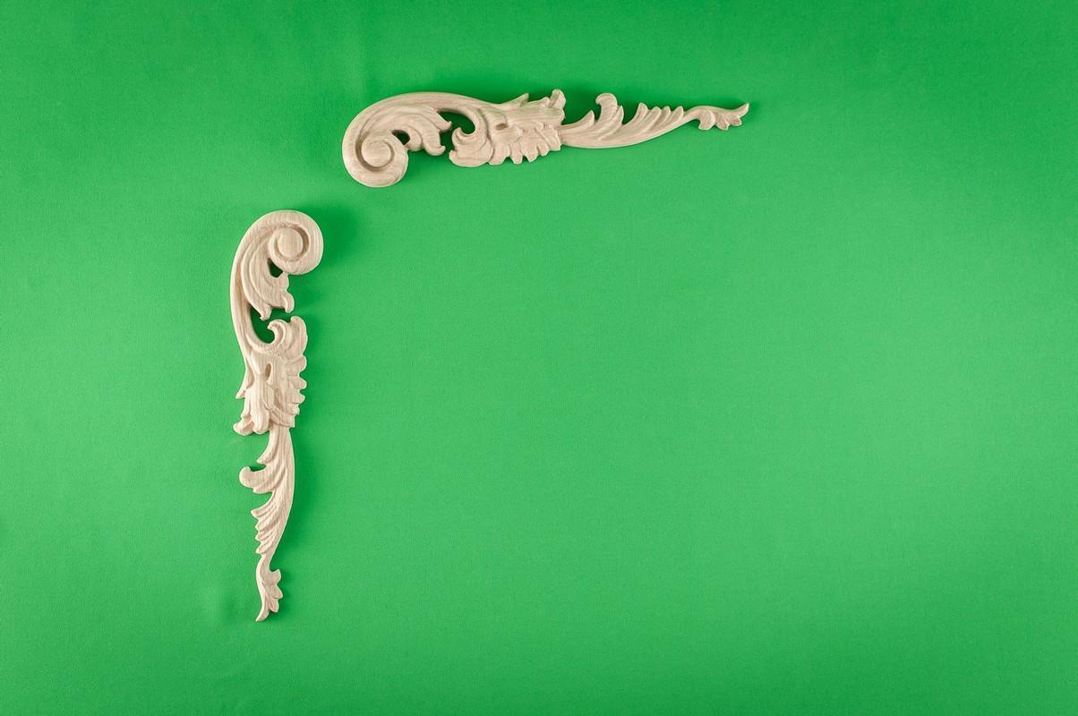 Код ДУ3. Деревянный резной декор для мебели. Декор угловой