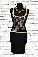 Чёрное женское коктейльное платье