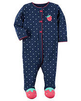 Человечки Картерс для новорожденных девочек 3-6-9 мес Клубничка Carters (США)