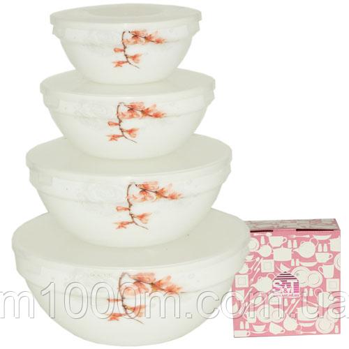 Набор емкостей для хранения продуктов с крышкой 4шт (7', 6' , 5' , 4,2' ) 'Айва оранж' 30054-16003