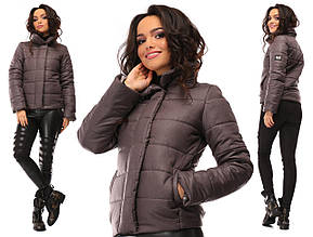 Куртка зимняя короткая на синтепоне с высоким воротником
