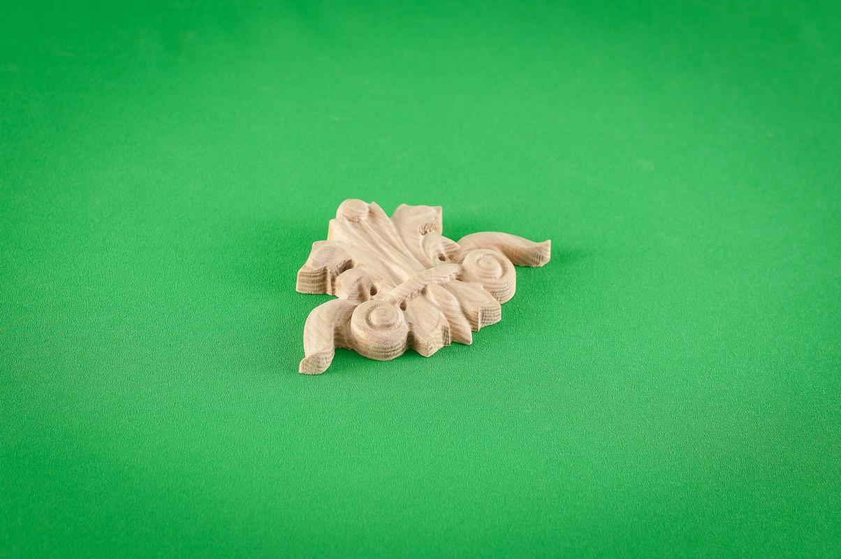 Код ДЦ22. Резной деревянный декор для мебели. Декор центральный