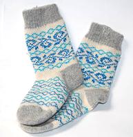 Женские носочки из овечьей шерсти
