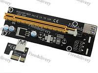 PCI-Express PCI-E 1X на 16X райзер V006 Molex USB 3.0 60см майнинг