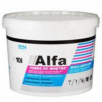 Белая акриловая краска Alfa Primacol 10л