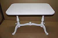 Стол обеденный ДУЭТ 140(+50) белый