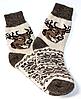 Чоловічі шкарпетки з овечої вовни олені на бежевому