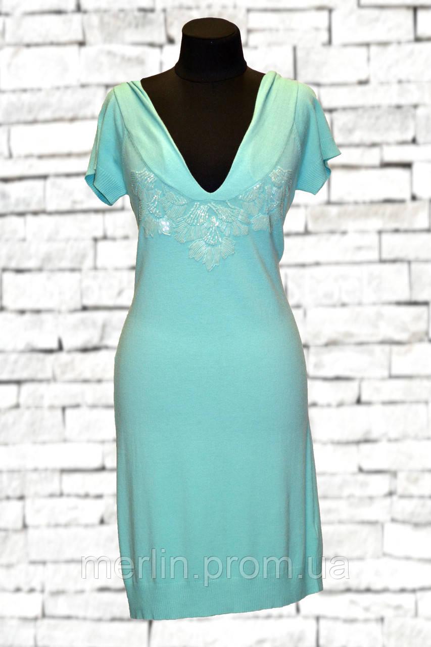 6b971491927 Бирюзовое платье-труба расшитое бисером - Интернет-магазин женской одежды  Fur Marilyn Gold в