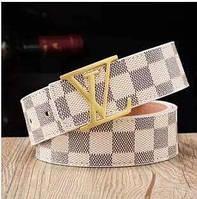 Стильный брендовый Ремень Louis Vuitton White