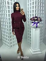 Костюм женский юбочный из ангоры с кофтой под пояс 70165