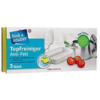 Губка для мытья посуды Flink&Sauber Тopfreiniger Anti-Fett, 3 шт.