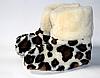 Чуни леопардовые из овечьей шерсти