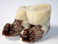 Чуні з овечої вовни олені