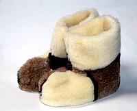 Чуні з овечої вовни коричнева клітинка
