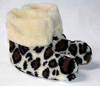 Леопардові чуні з овечої вовни