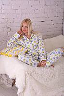 Теплая байковая пижама П302