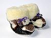 Дитячі пінетки з овчини - коричнева клітинка