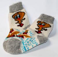 Шерстяные теплые детские носки