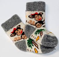 Дитячі шкарпетки з овчини