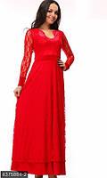 Платье вечернее красное длинное