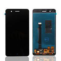 Дисплей (экран) для ZTE A510 Blade + с сенсором (тачскрином) черный Оригинал