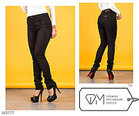Джинсы черные женские на флисе New Jeans