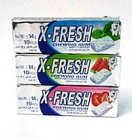 Жевательные резинки X-Fresh 10шт., 14гр