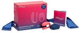 Набор We-Vibe Sensations Unite: вибратор для пар, эрекционное кольцо, шелковая лента и книга удовольствия