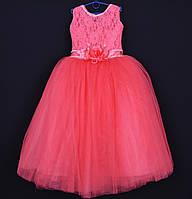 """Нарядное детское платье """"Букет"""". 6-7 лет. Коралловое. Оптом и в розницу"""