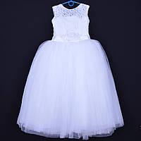 """Нарядное детское платье """"Букет"""". 6-7 лет. Белое. Оптом и в розницу"""
