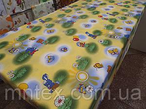 Ткань для пошива постельного белья бязь голд На лужайке
