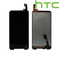 Дисплейный модуль (дисплей + сенсор) для HTC X920e Butterfly, черный, оригинал