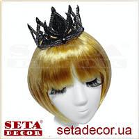 Корона Черная принцесса карнавальная