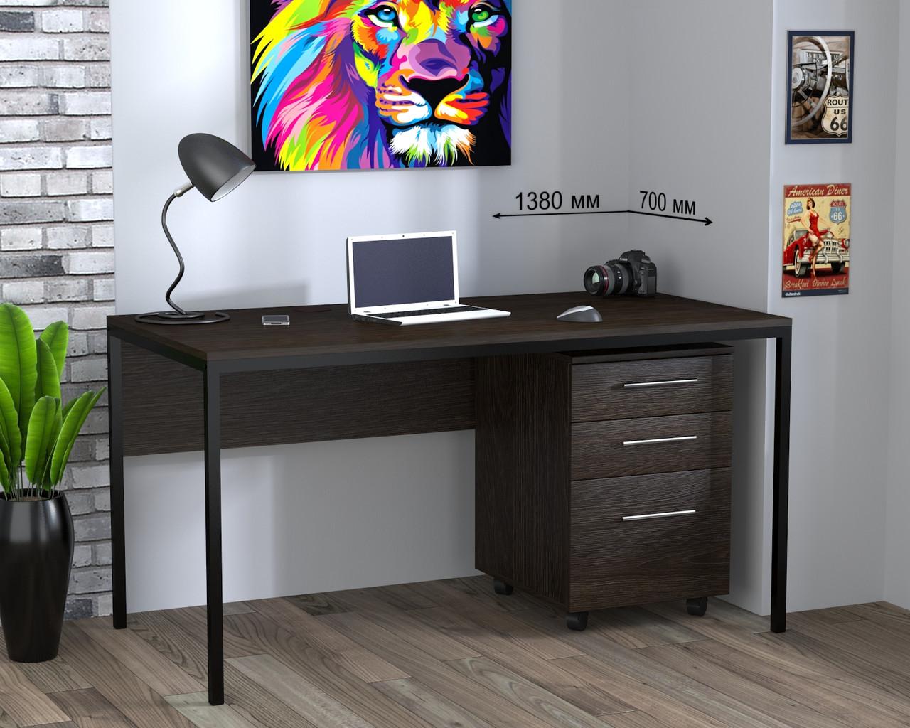 Стол письменный в стиле лофт Лофт L3p Loft Design
