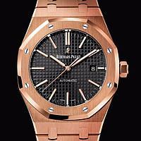 Часы Audemars Piguet Royal Oak Black AAA мужские механические копия AP