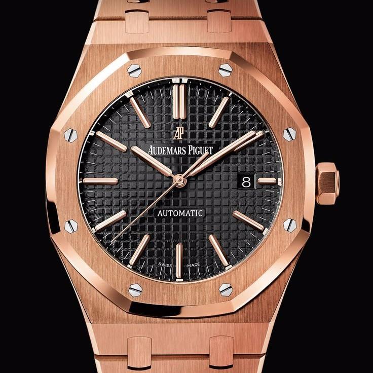 08b9d822d404 Наручные часы Audemars Piguet Royal Oak Black AAA мужские механические  копия AP